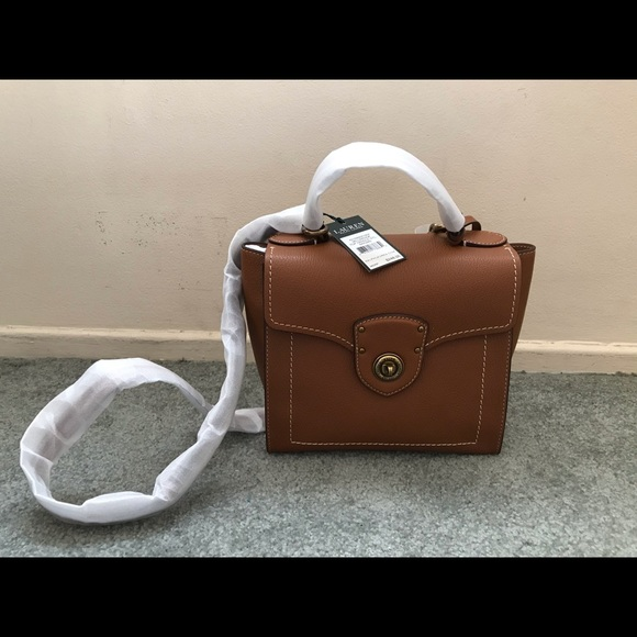 delicate colors shop for newest free shipping Ralph Lauren Millbrook TopHandle Crossbody Satchel NWT